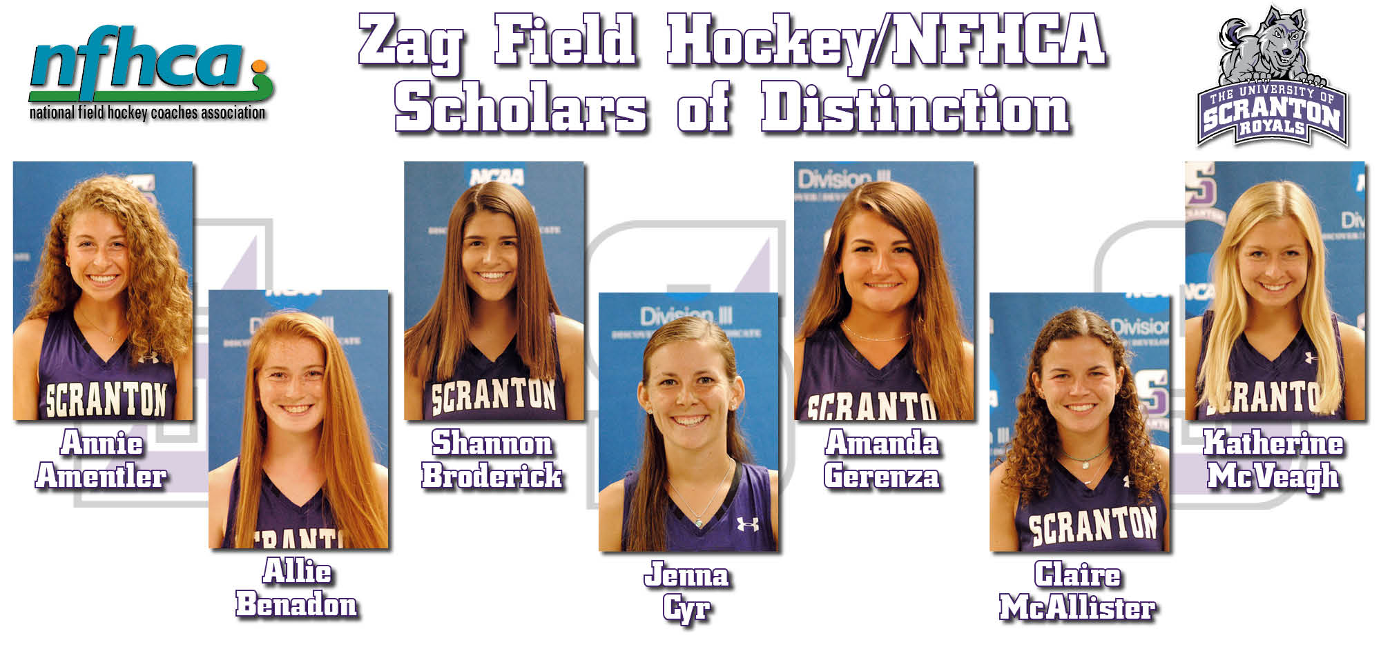 Seven Field Hockey Players Claim NFHCA Scholar of Distinction Accolades
