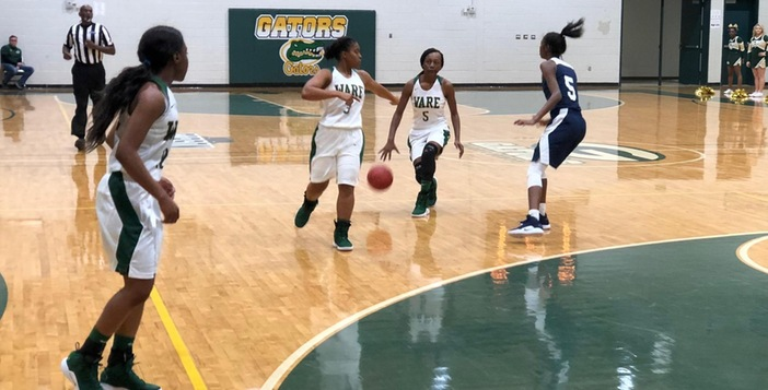 Lady Gators Force Three Way Tie for First Place with Victory over Statesboro 49-47