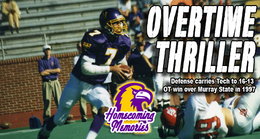 Homecoming Memories: Tech defense holds strong in 1997 overtime win over Murray State