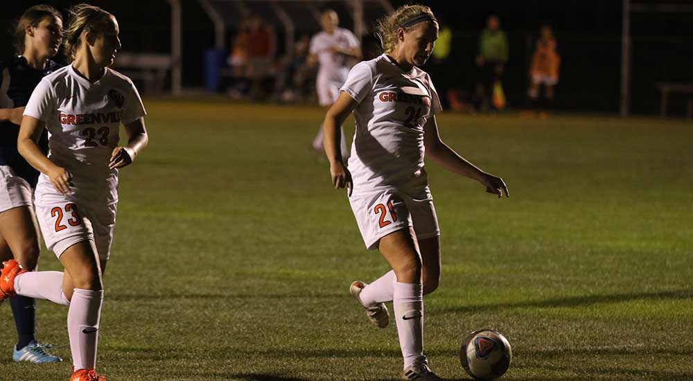 Women's soccer improves undefeated SLIAC start with 2-0 win