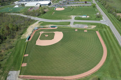 The Tompkins Cortland baseball field. Photo by Robert Ross
