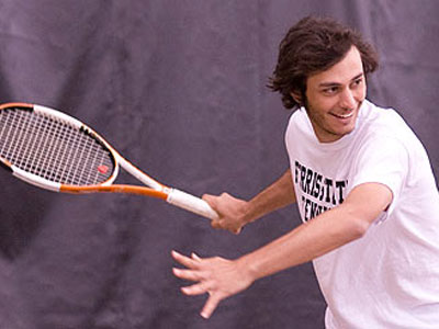 Ferris State men's tennis player Ahmet Demir