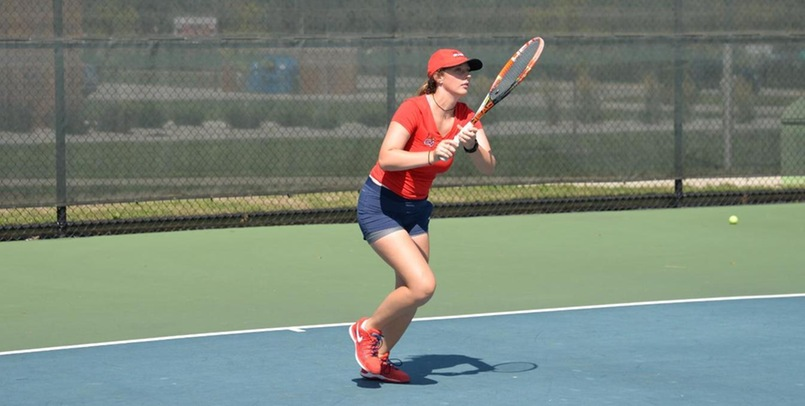 Mikayla Kazdan got the win for the Cardinals at the No. 5 singles position versus Lawrence Tech...