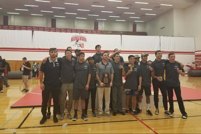 The Falcon wrestling team took second place at the SoCal Regional Championships