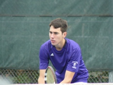 Senior Mike Pannone won two matches today, including the 38th of his career in singles, as the Royals downed Susquehanna, 8-1, at the Royal Courts.
