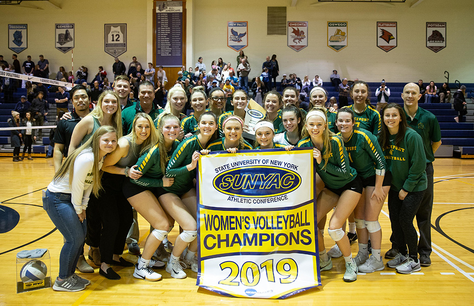 Brockport captures 2019 SUNYAC women's volleyball title