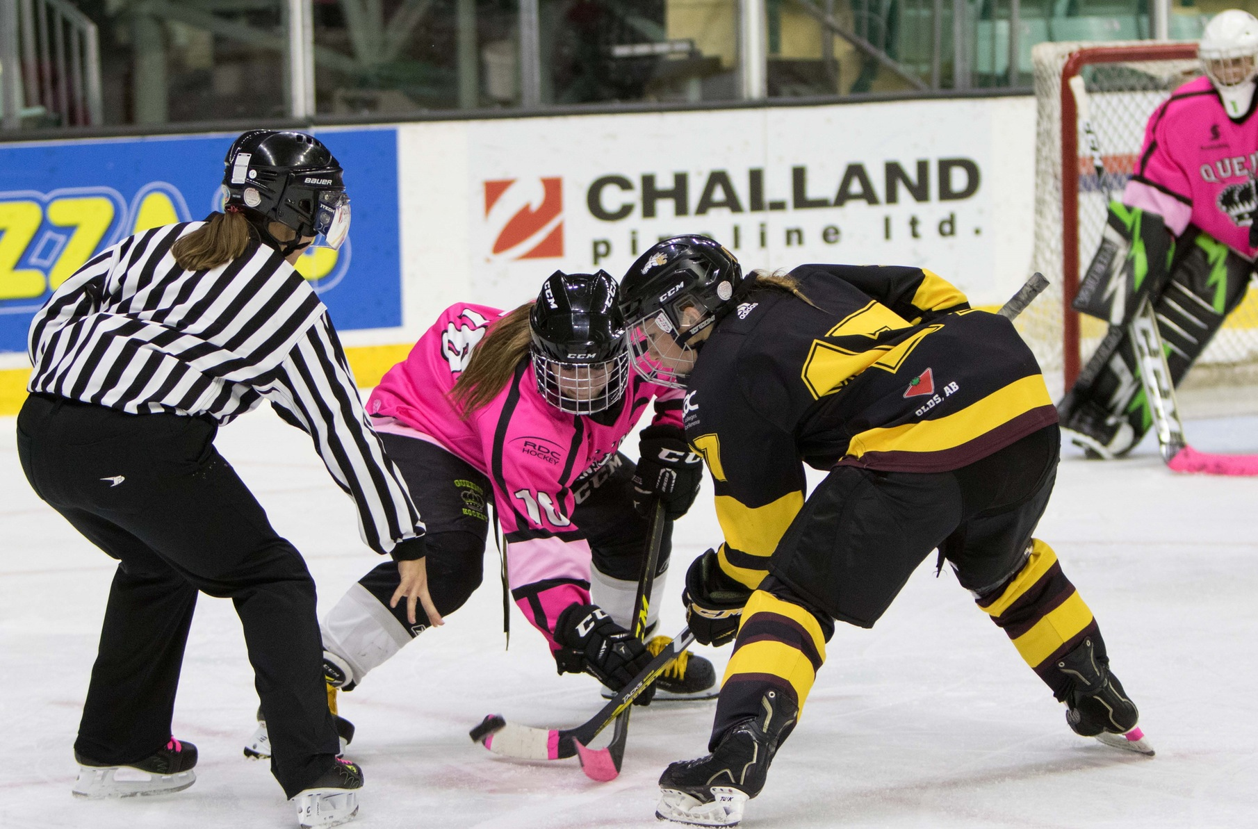 Queens bring home the win for cancer at Pink in the Rink