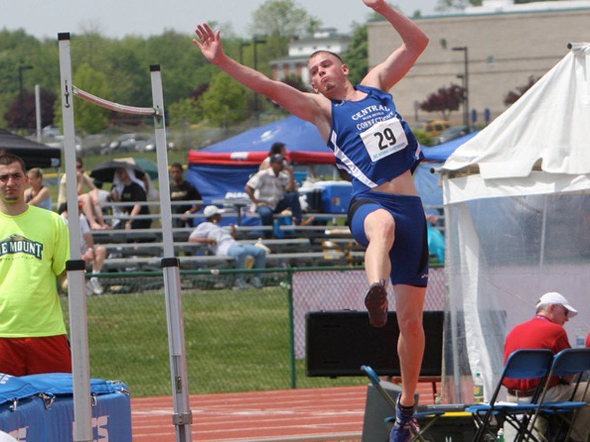 Blue Devils In Second Place After Day One at NEC Championship Meet