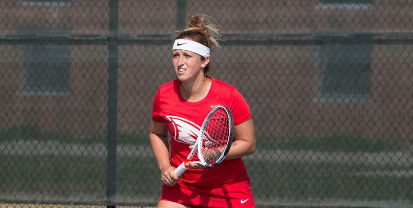 Shea Donahue had a big win at No. 1 Singles for the Cardinals at GVSU on Saturday...