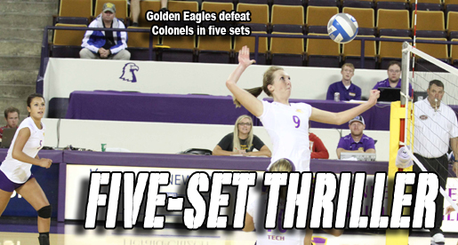 Golden Eagles take the five-set victory over Eastern Kentucky