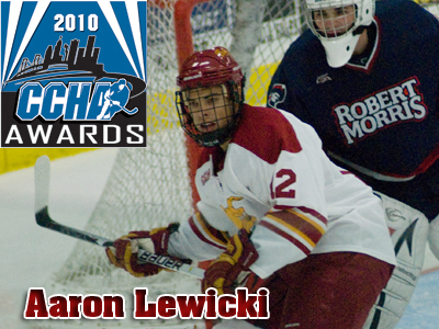 Aaron Lewicki Receives CCHA's Terry Flanagan Memorial Award