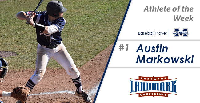 Austin Markowski '19 named as Landmark Conference Baseball Player of the Week.