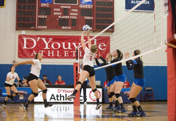 Women's Volleyball Loses First Conference Home Match to Bradford