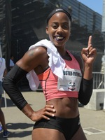 Juanita Webster competed at the USATF Championships