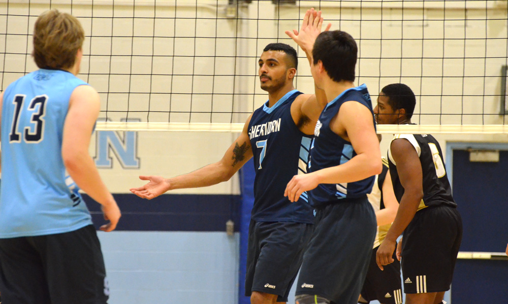 Men's volleyball clinch playoff spot with win over Conestoga