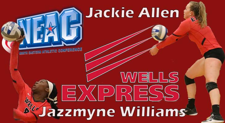 Allen and Williams Named to All-NEAC Volleyball Teams