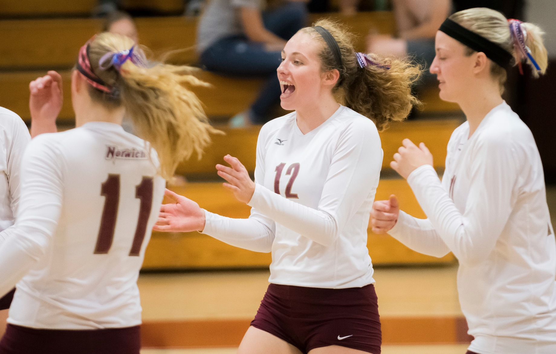 Volleyball: Norwich sweeps New England College and Mitchell College