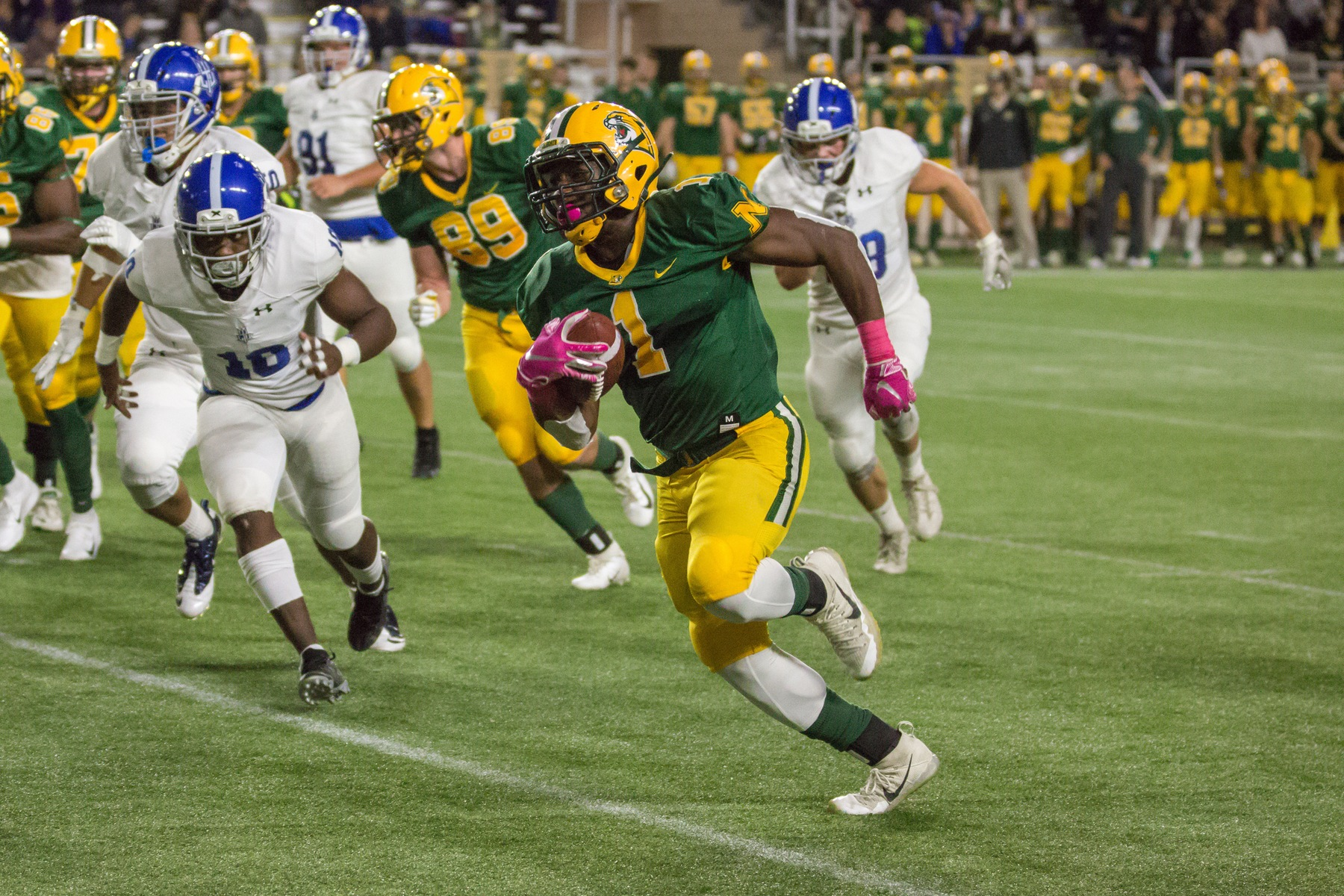 Football Runs Past Blue Devils For 65-7 Victory