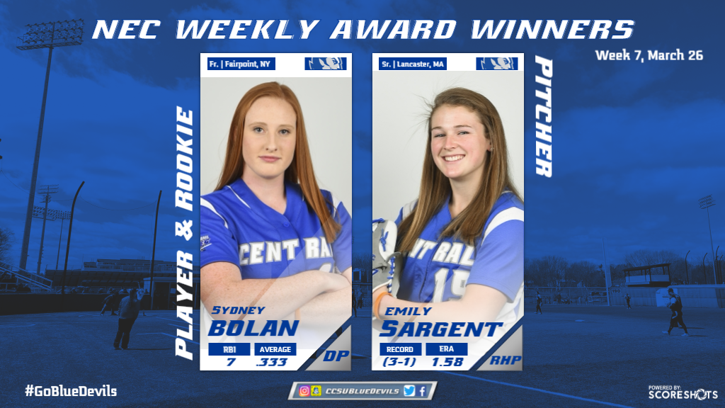 Bolan, Sargent Sweep Northeast Conference Week Six Awards