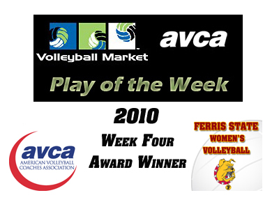 Ferris State Receives National Volleyball Play of the Week Honor