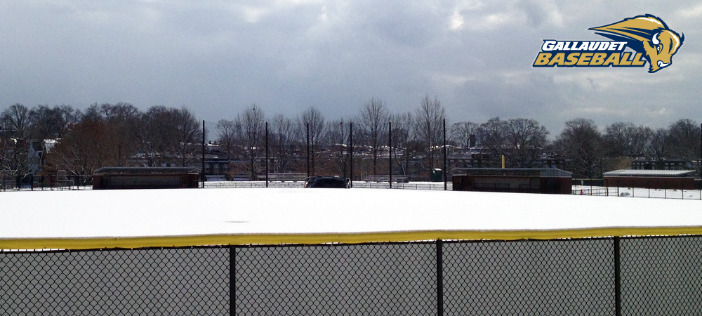 Two Gallaudet baseball game changes due to the weather