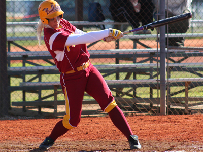 Senior shortstop Lynsay Weaver's solo home run in the sixth inning was Ferris State's lone run.  (Photo by Eric Carlson)