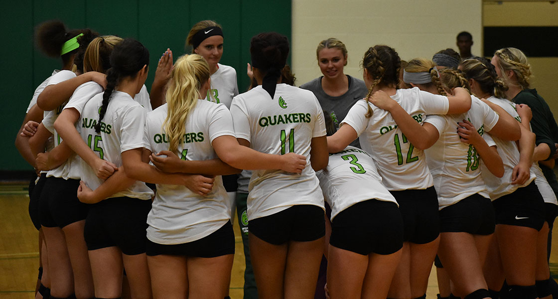 Straight set loss for @DubC_Volleyball to Capital