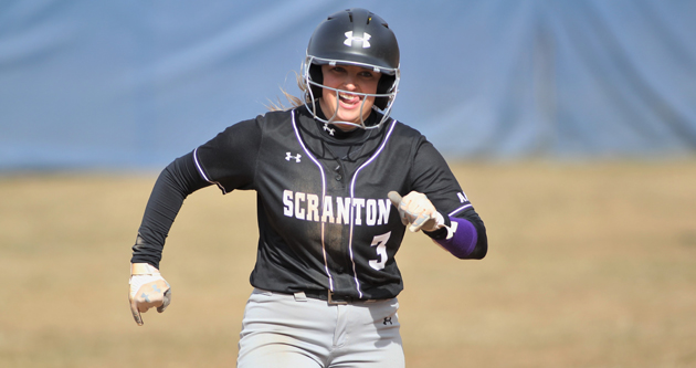 Junior Casey DeSarno had the eventual game-winning RBI double against Moravian, then went 3-for-4 vs. Susquehanna on the first day of the 2019 Landmark Conference Championships on Friday. © Photo by Timothy R. Dougherty / doubleeaglephotography.com
