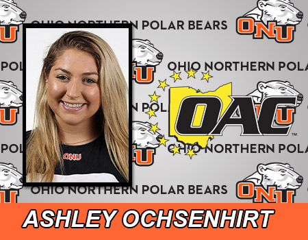 Sophomore Ashley Ochsenhirt named OAC Women's Tennis Player of the Week for second consecutive week