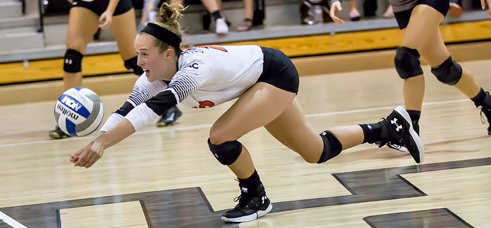 Pioneers fall 3-1 to Mars Hill in home volleyball finale