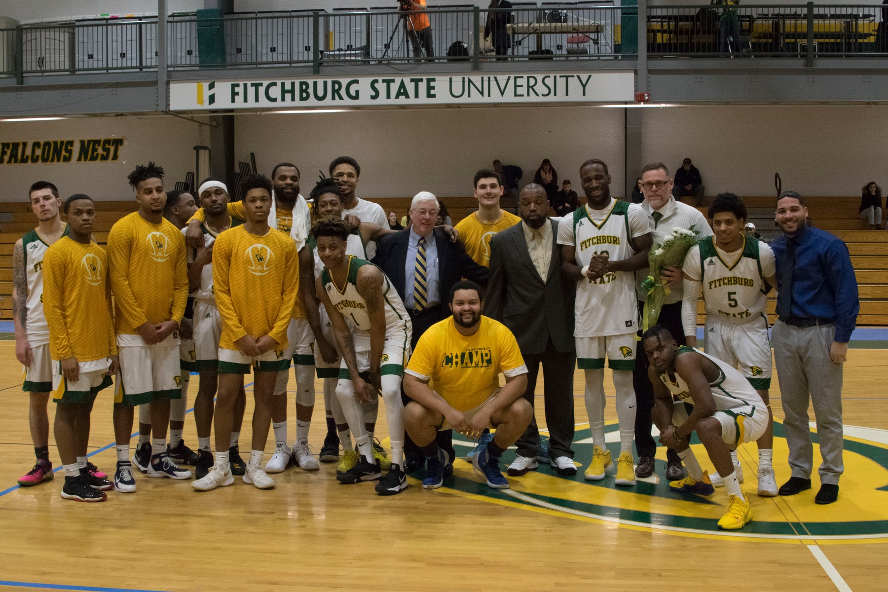Falcons Downed by Owls on Senior Night, 82-77