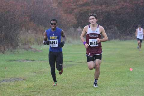 Men's cross country competes at the HCAC Championships