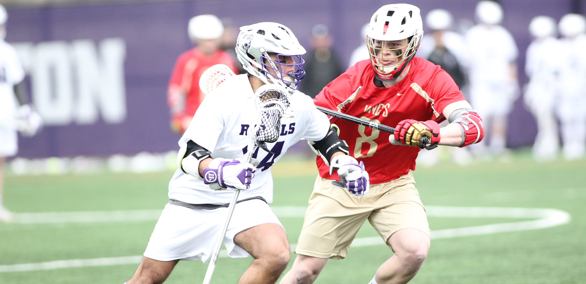 Senior Tim Dolan factored into three key goals as Scranton used a huge second half surge to defeat Susquehanna in Saturday's Landmark Conference opener. © Photo by Timothy R. Dougherty / doubleeaglephotography.com