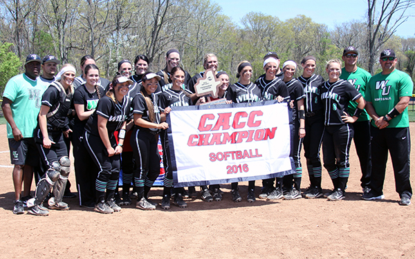 Brown's Homer, Bradley's MVP Performance Gives Wilmington Softball the 2016 CACC Tournament Championship, 1-0, over Holy Family