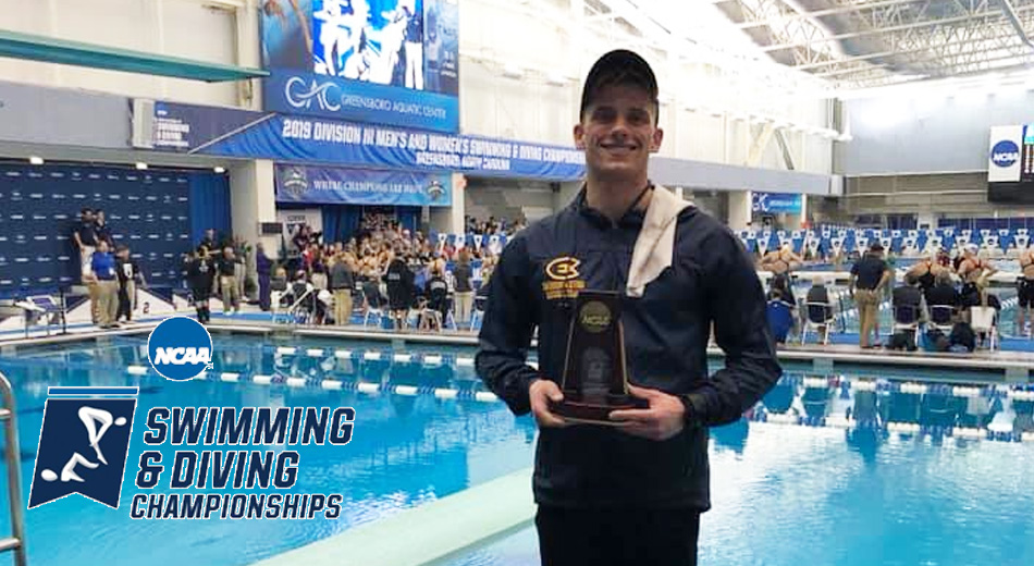 Glumac-Berberich earns All-American honors in the 1-meter dive at NCAA Swim & Dive Championships