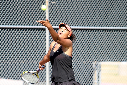 MARAUDER TENNIS ENDS 10-MATCH LOSING SKID, WINS FIRST CONFERENCE MATCH