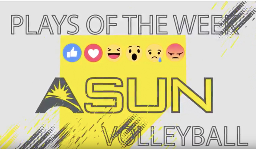 Vote For The @ASUNVolleyball Plays of the Week On Facebook