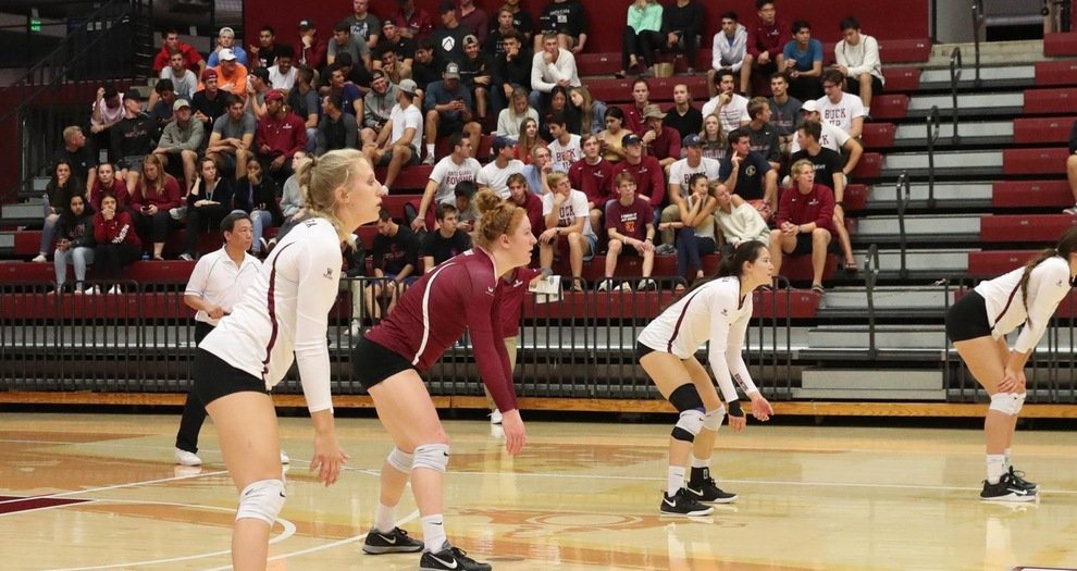 Volleyball Battles, But Falls to San Diego in Straight Sets