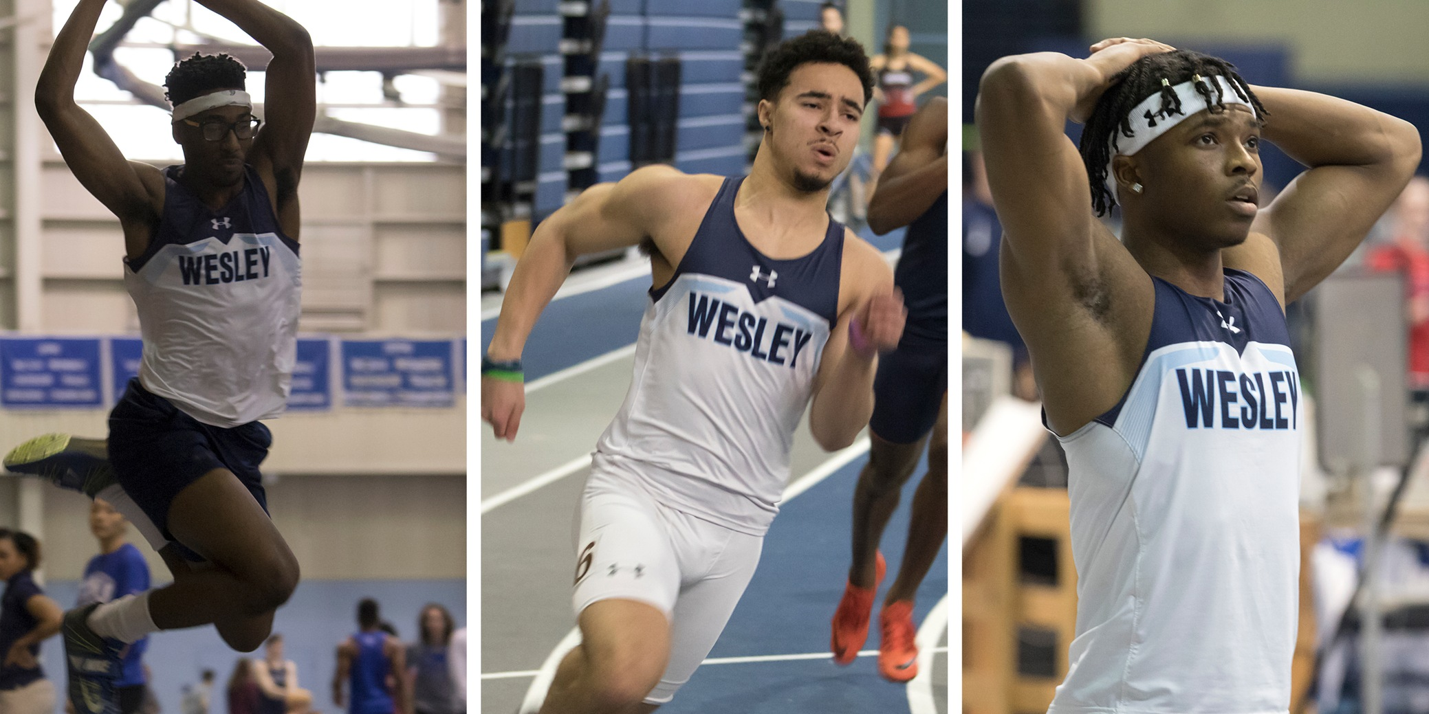 Wesley men place second at CAC Indoor Championships