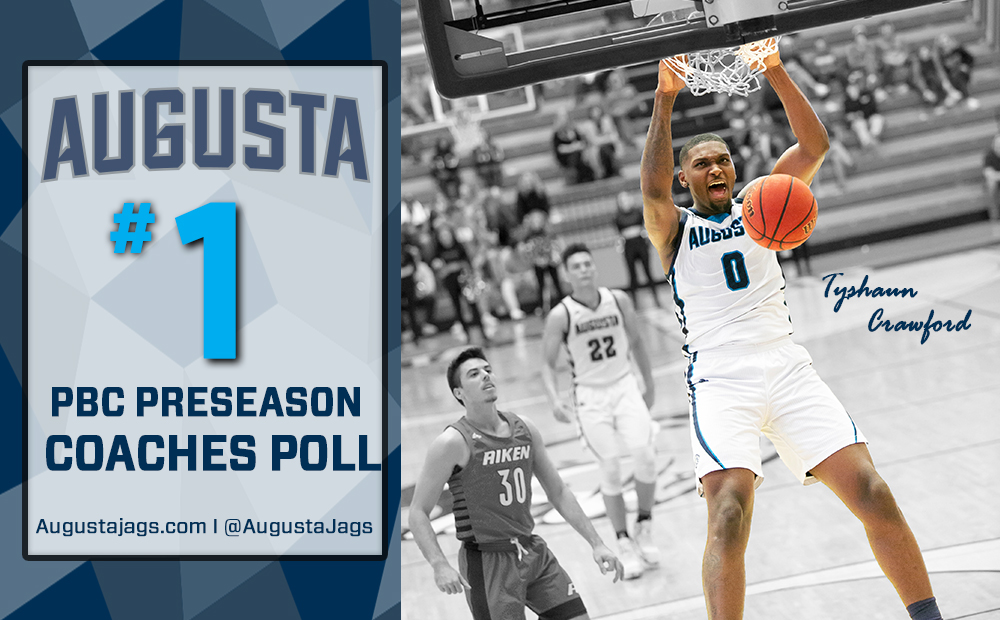 Augusta Named PBC Preseason Men's Basketball Favorite - Tyshaun Crawford Tabbed Preseason All-Conference Selection