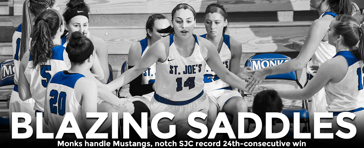 Monks Handle Mustangs, Notch SJC Record 24th Straight Victory