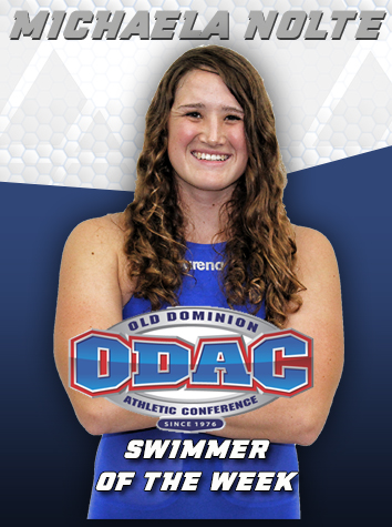Michaela Nolte Named ODAC Women's Swimmer of the Week
