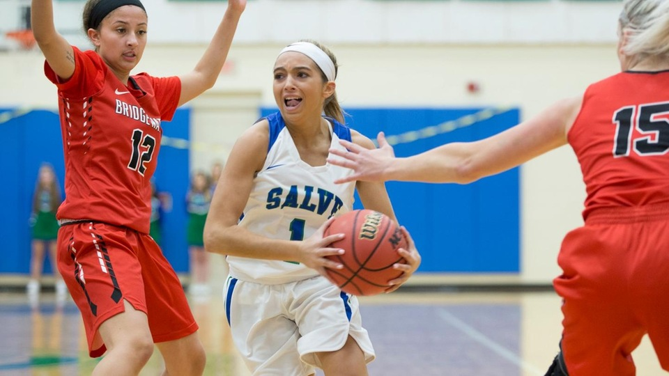 Torie Scorpio scored a game-high 23 points in Salve Regina's 71-60 win over visiting Bridgewater State. (Photo by Rob McGuinness)
