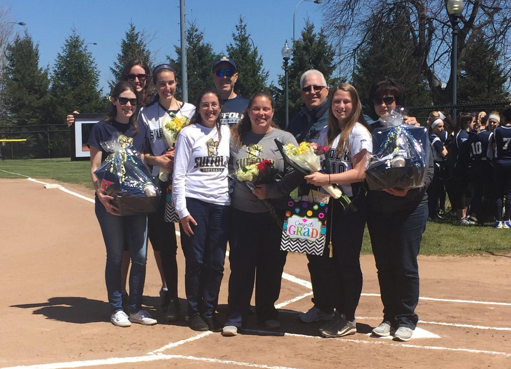 Softball Sends Seniors Off with Rivier Sweep Saturday