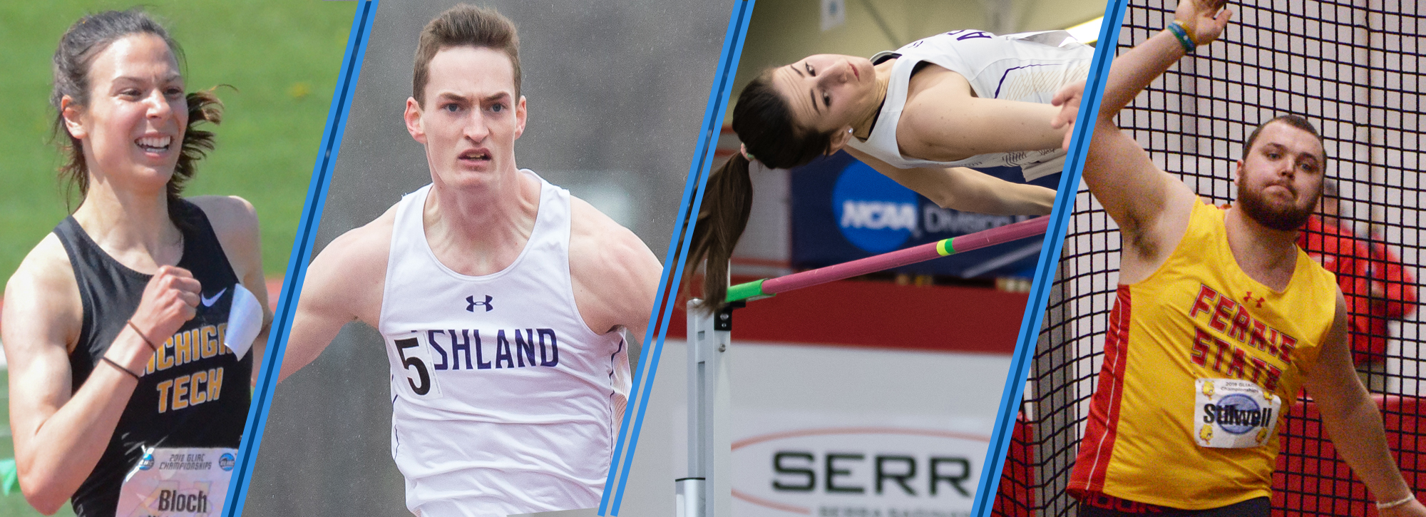 Ashland's Jindra and Bassitt, Ferris State's Stilwell and Tech's Bloch earn track and field weekly honors