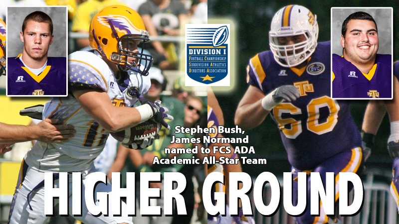 National honors to Bush, Normand with selection to FCS ADA Academic All-Star Team