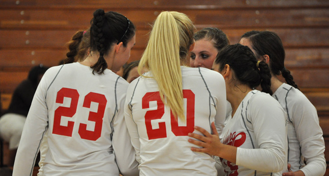 Hornet Volleyball Defeats Randolph in Three