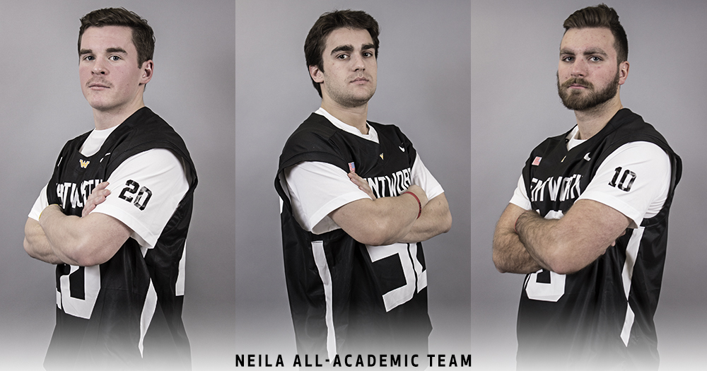Trio of Men's Lacrosse Players Earn NEILA Senior Academic All-New England Honors