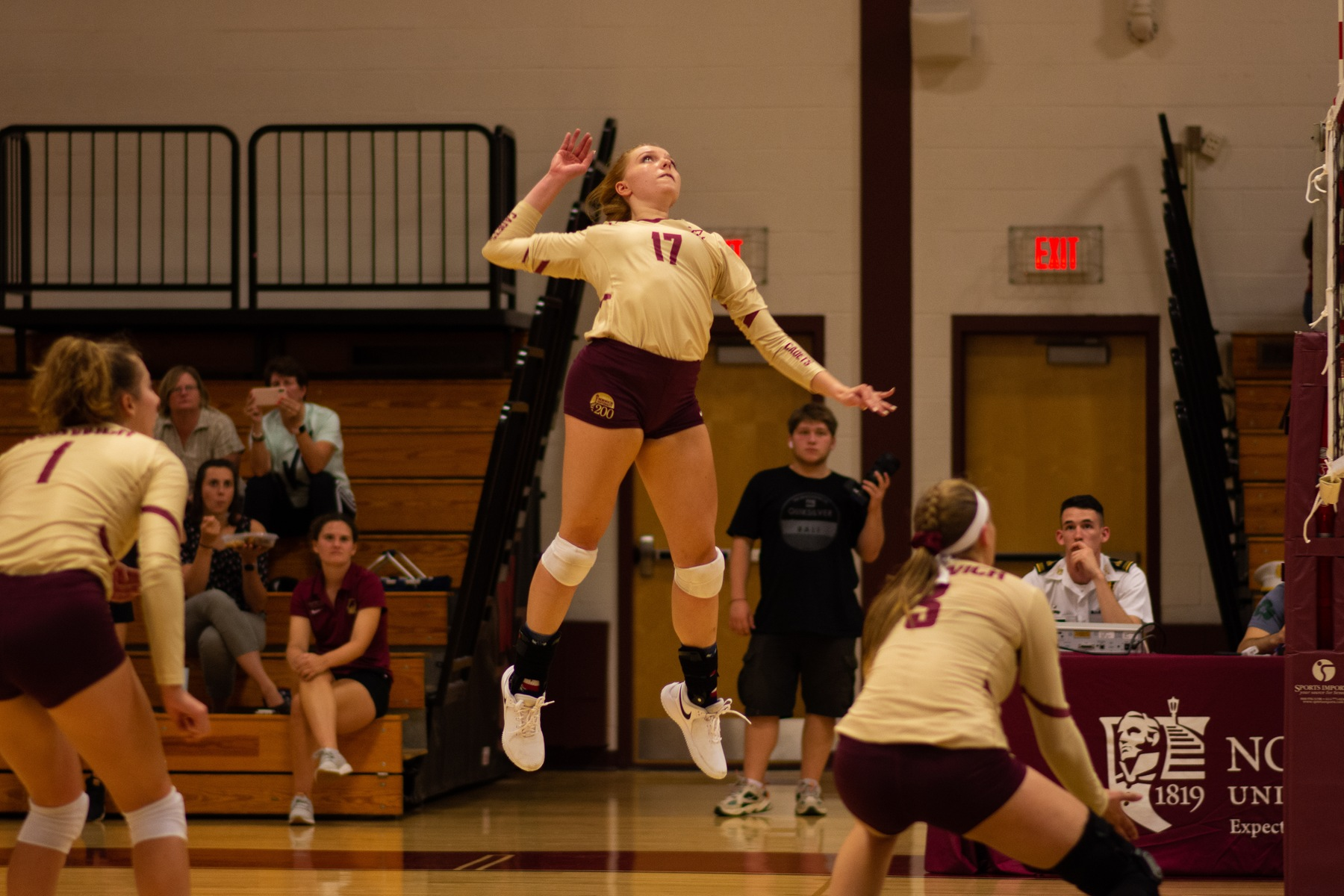 Volleyball: Norwich Drops Non-conference Match to Plattsburgh State