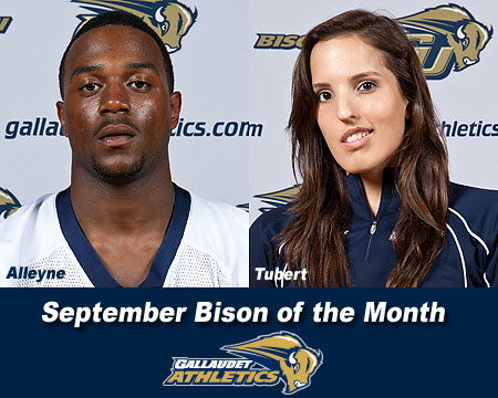 Jaris Alleyne and Sarah Tubert named September Bison of the Month